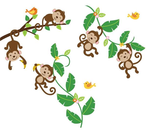 Hình ảnh khỉ hoạt hình dễ thương