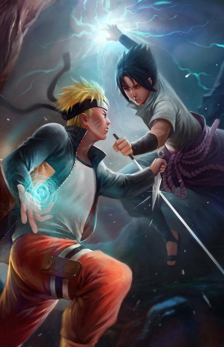 Hình ảnh naruto và sasuke 3D