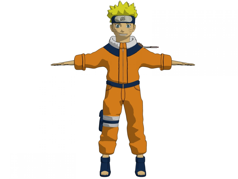 Hình ảnh nhân vật naruto 3D
