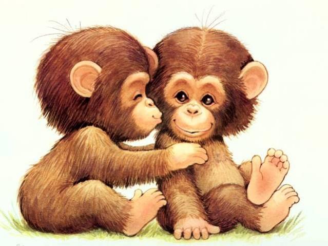 Hình ảnh vẽ con khỉ dễ thương