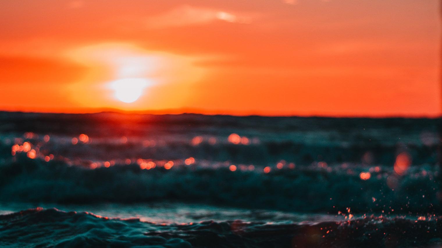 Hình ảnh biển hoàng hôn đẹp