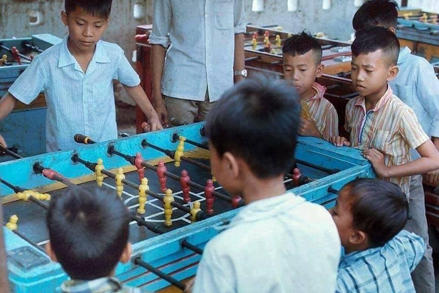Hình ảnh trò chơi bi lăc tuổi thơ