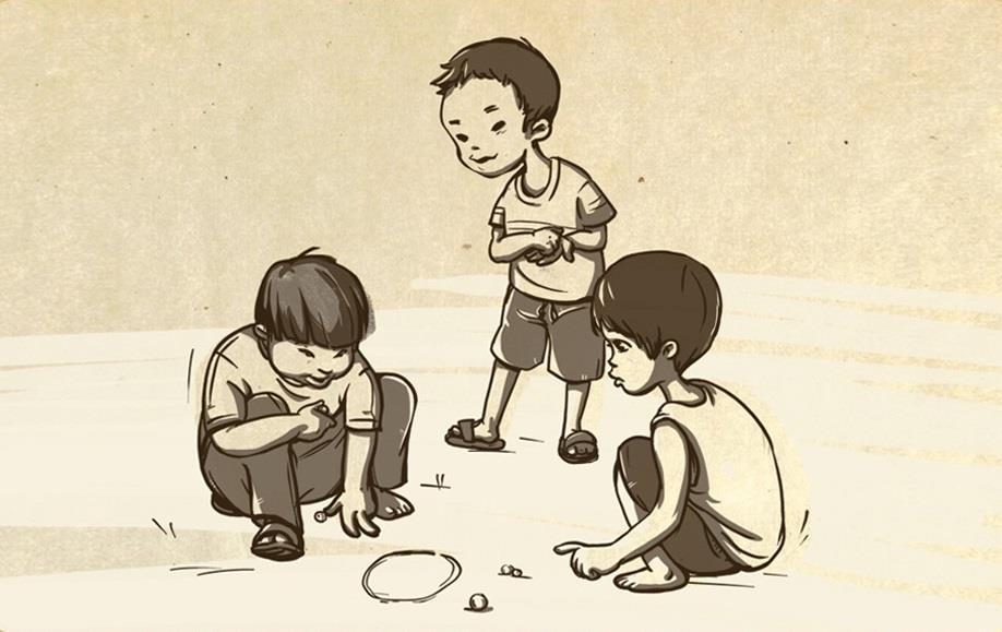 Hình ảnh vẽ tuổi thơ