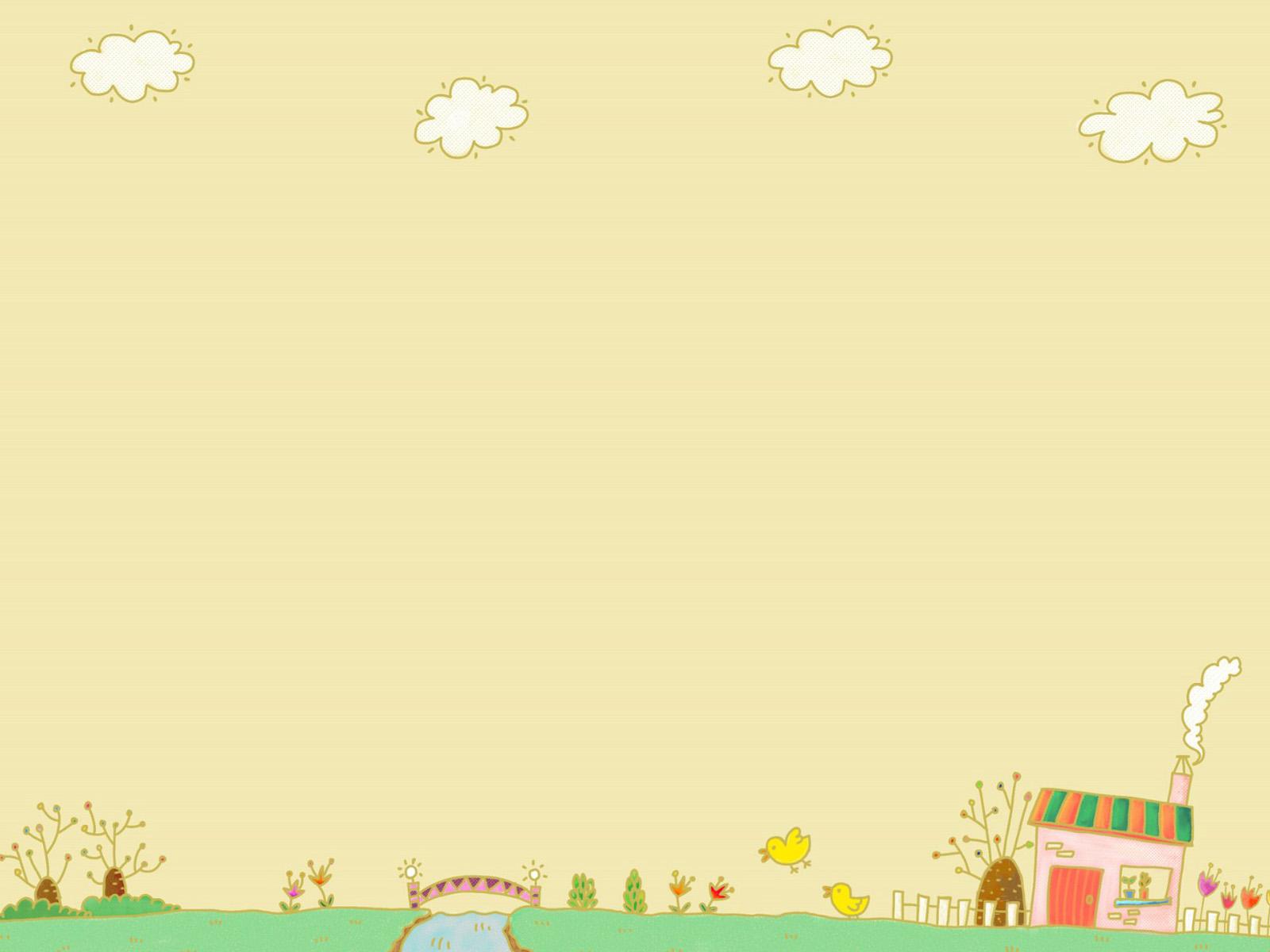 Background cho PowerPoint hình vẽ đáng yêu