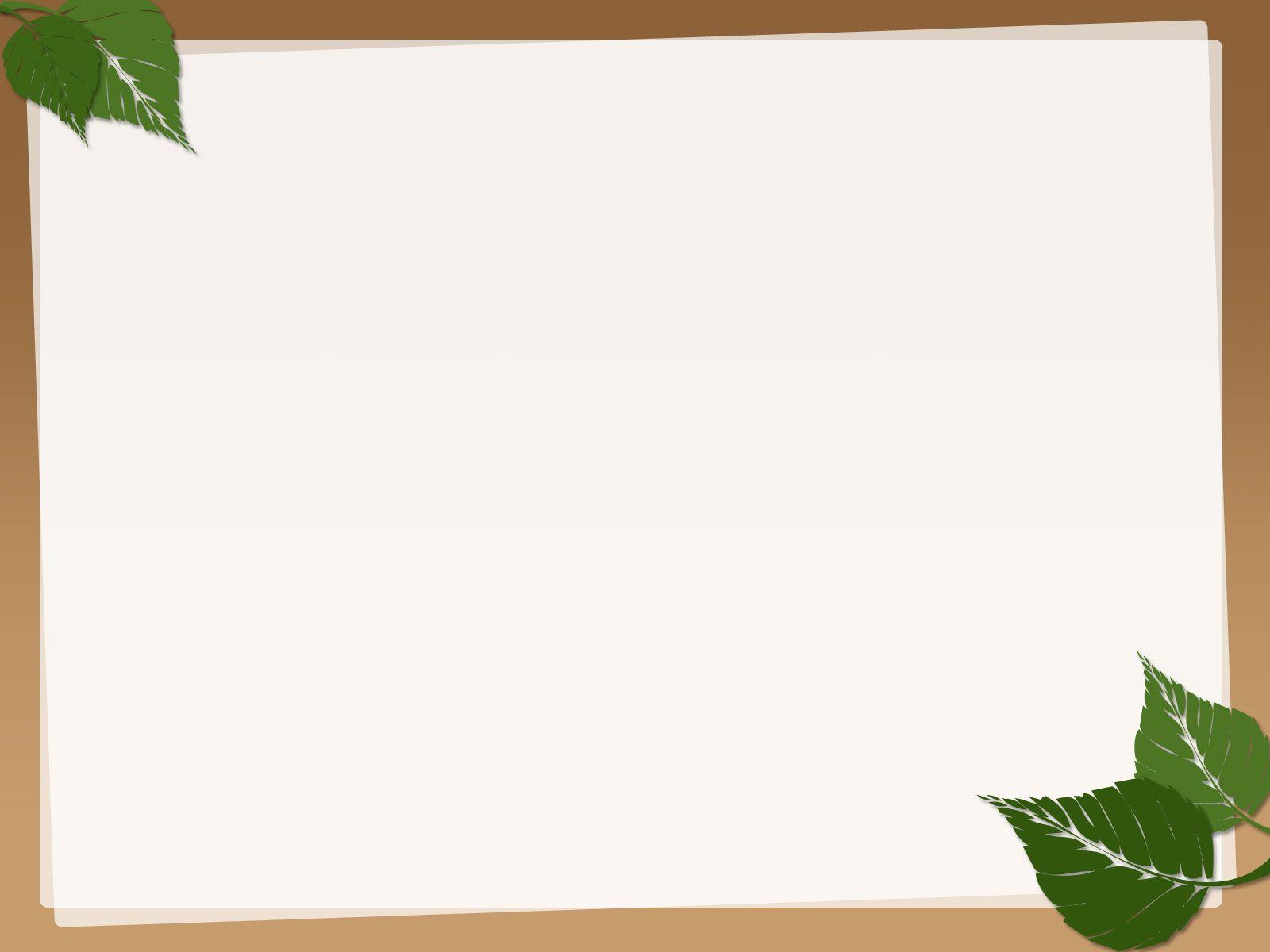 Background cho PowerPoint khung lá bạc hà