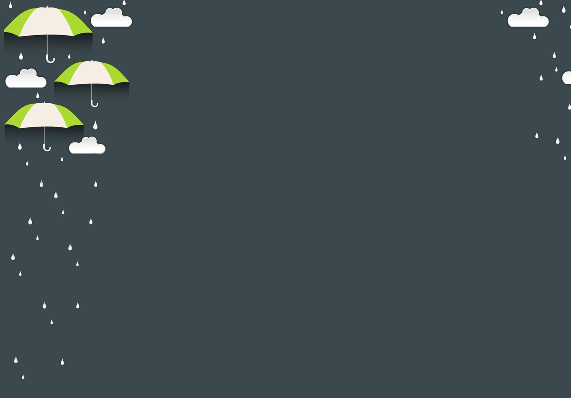 Background cho PowerPoint ô che mưa