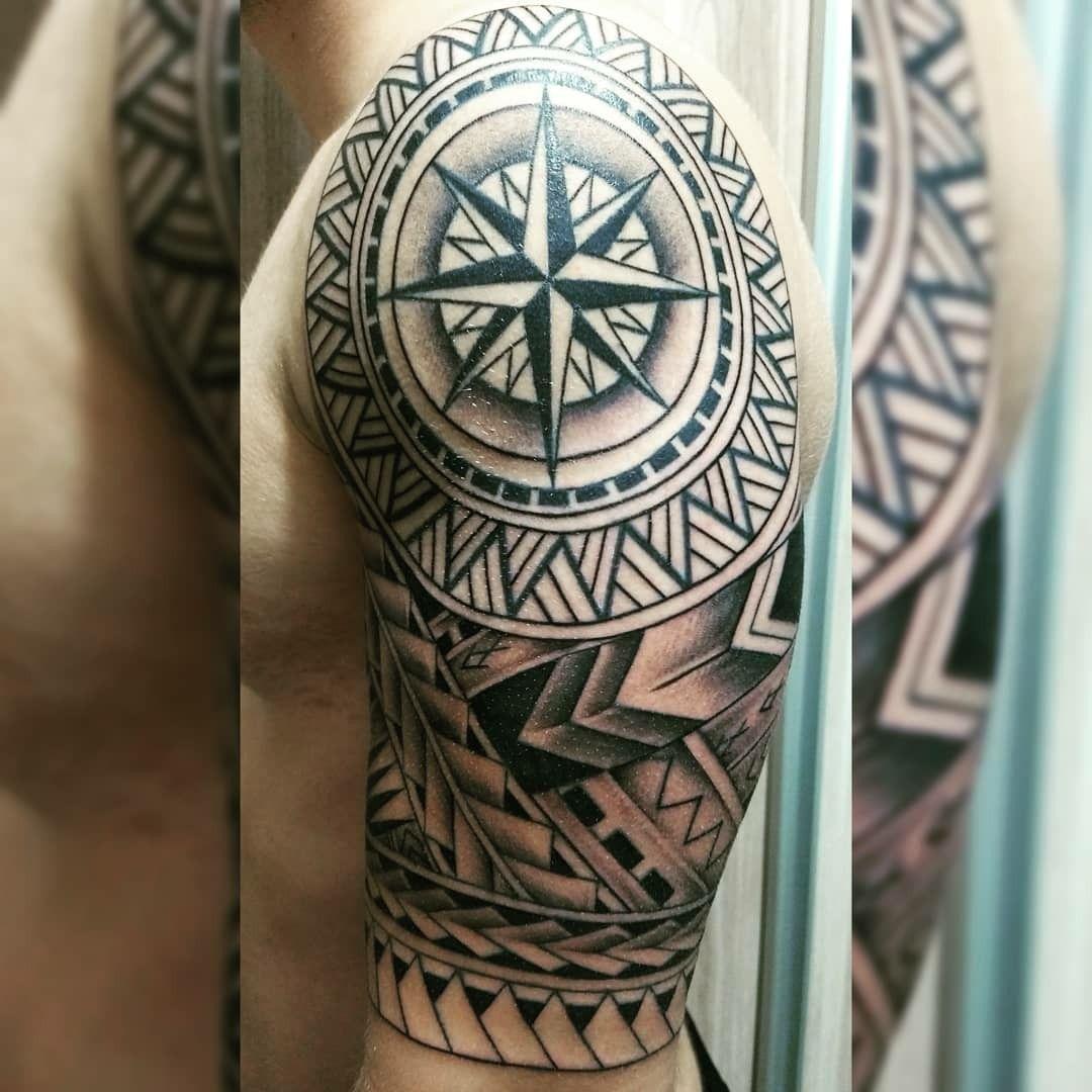 Hình xăm đẹp Maori ở cánh tay
