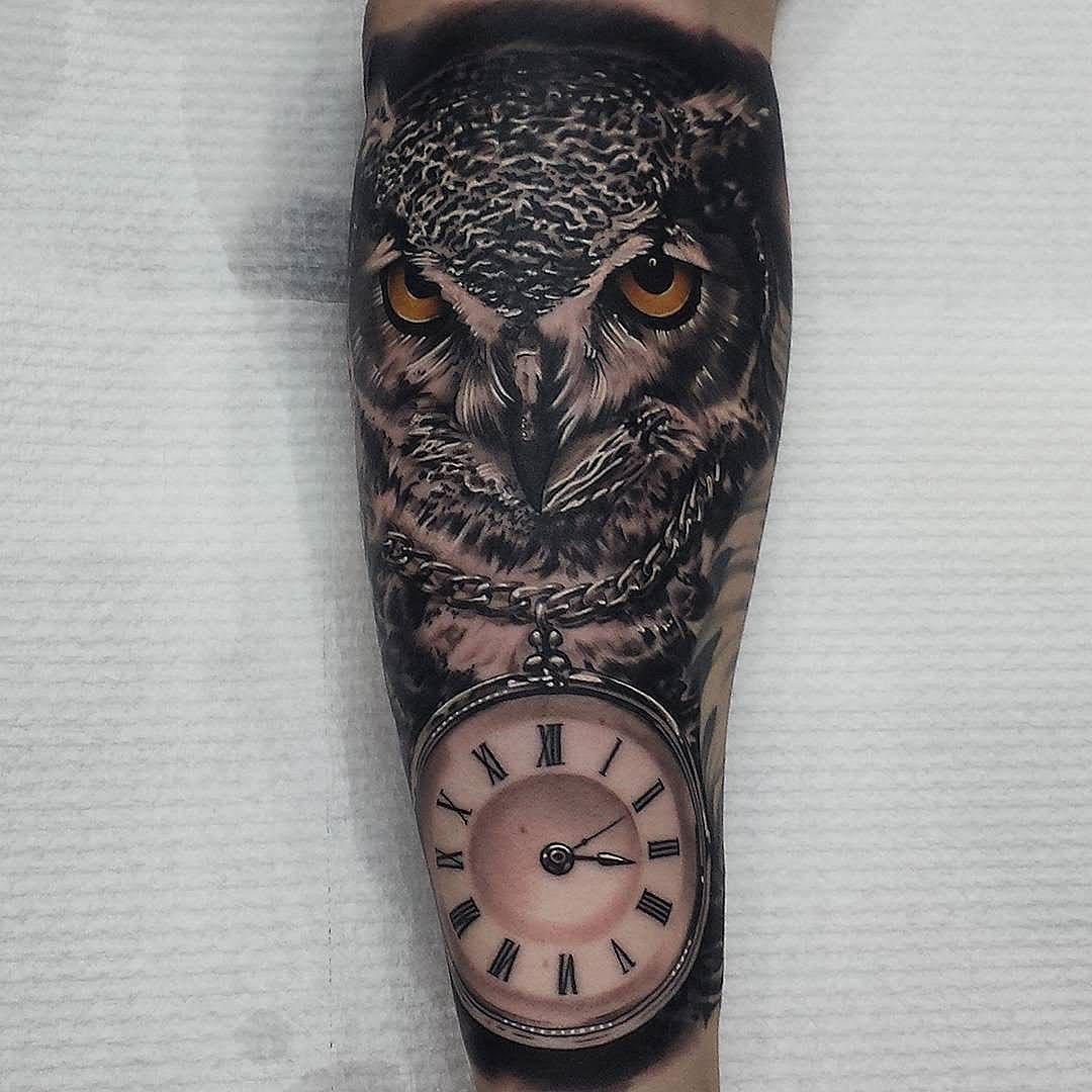 Hình xăm đồng hồ mặt quỷ ấn tượng và độc đáo nhất
