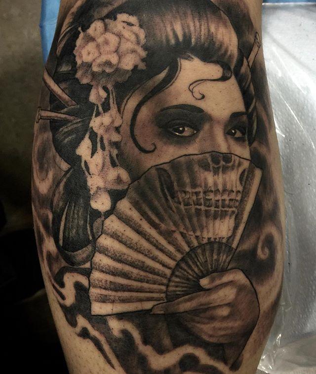 Hình xăm geisha mặt quỷ đẹp và ấn tượng nhất
