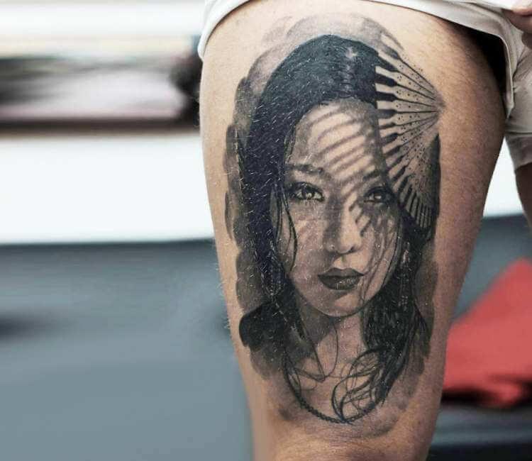 Hình xăm geisha nghệ thuật