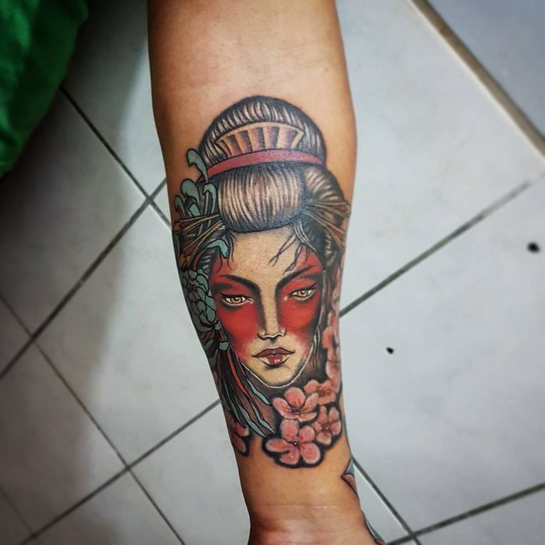 Hình xăm geisha