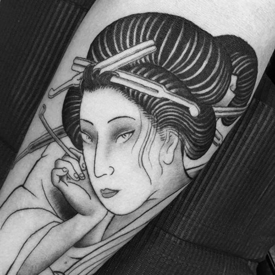 Hình xăm nữ geisha