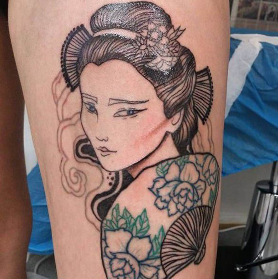 Tattoo geisha đẹp