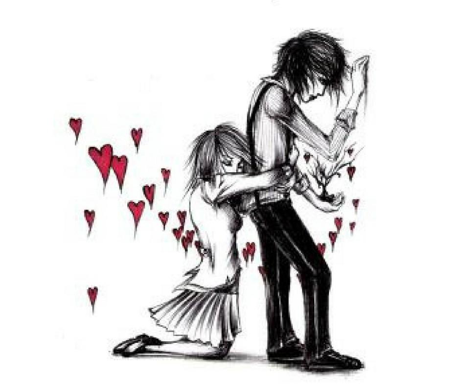 Hình ảnh hài hước về tình yêu đơn phương