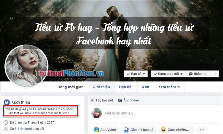 Tiểu sử FB hay - Tổng hợp những tiểu sử Facebook hay nhất