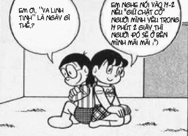 Ảnh chế ngày lễ tình yêu của nobita