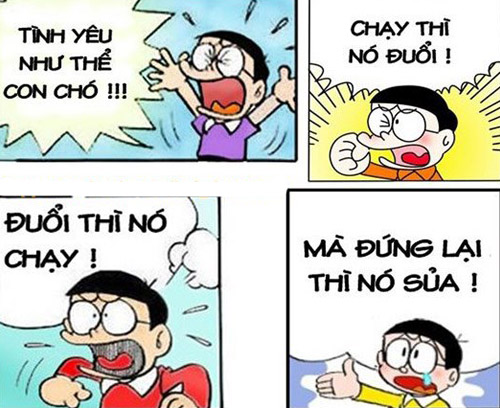 Ảnh nobita chế về tình yêu