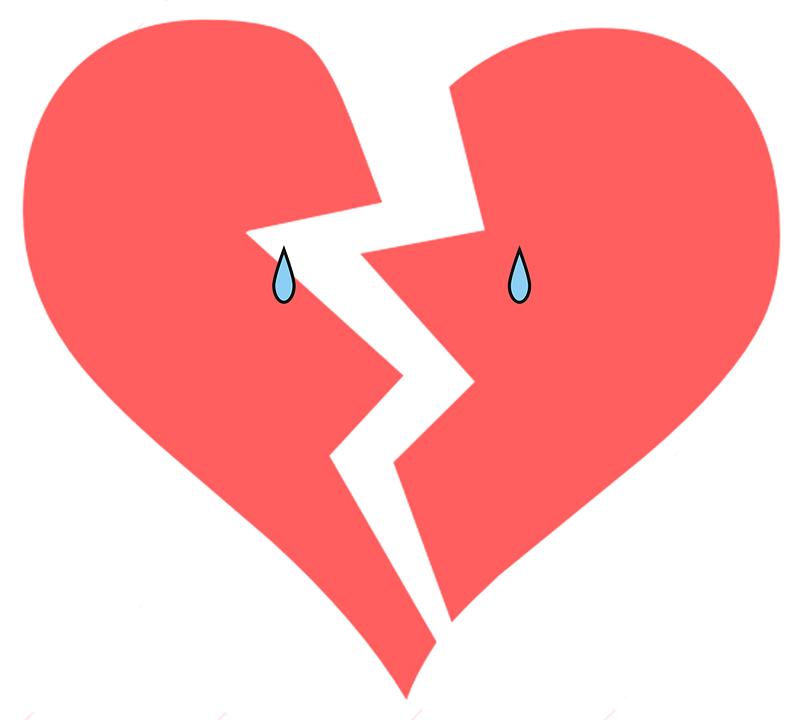 Ảnh trái tim buồn biết khóc