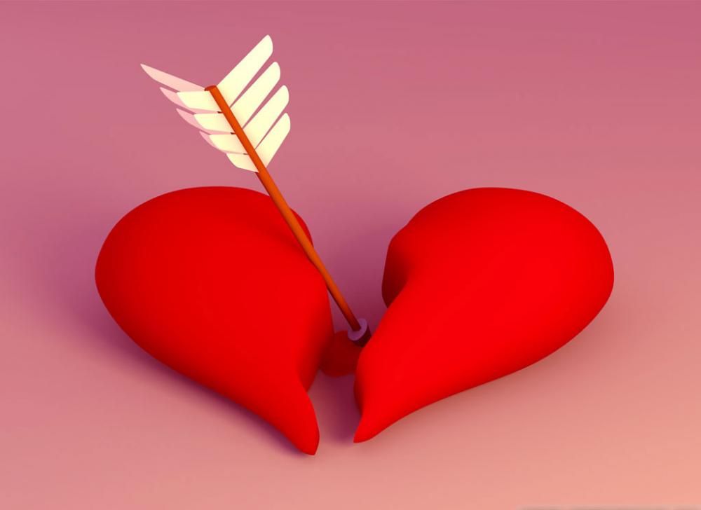 Ảnh trái tim tan vỡ 3D