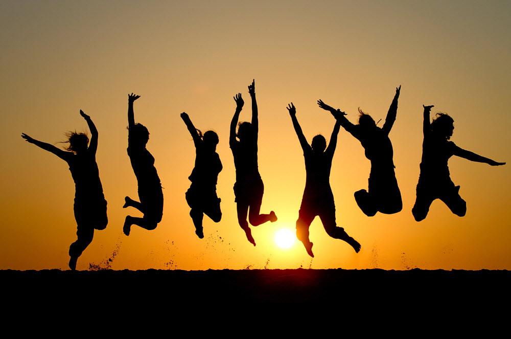 Hình ảnh cuộc sống hạnh phúc, vui vẻ