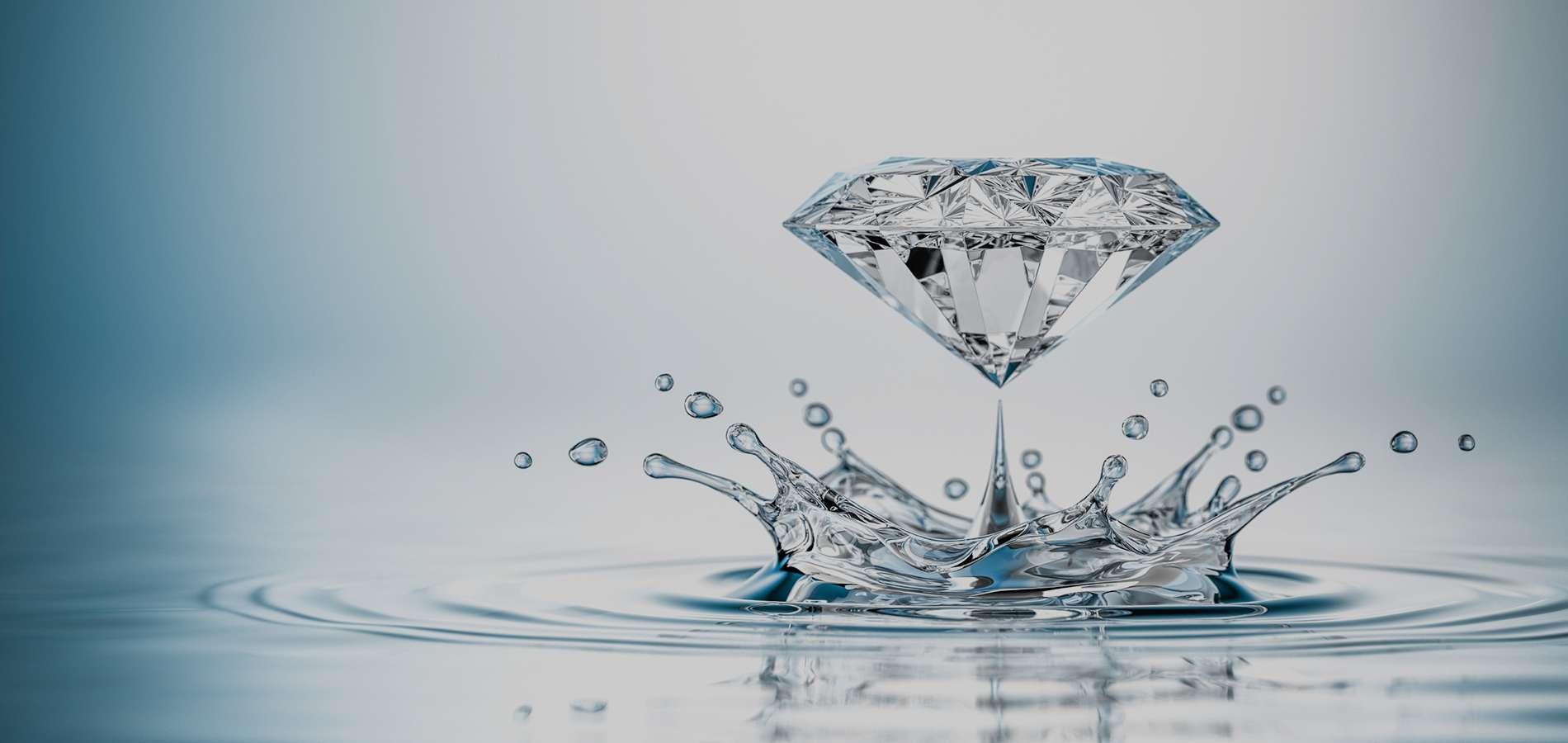 Hình ảnh nước và kim cương