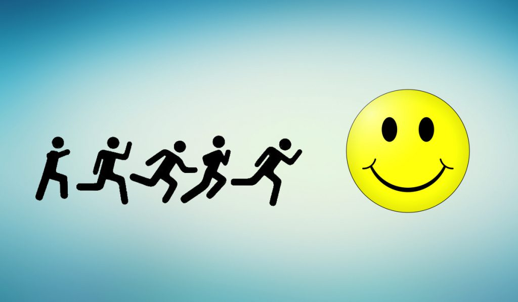Hình ảnh theo đuổi hạnh phúc, vui vẻ trong cuộc sống