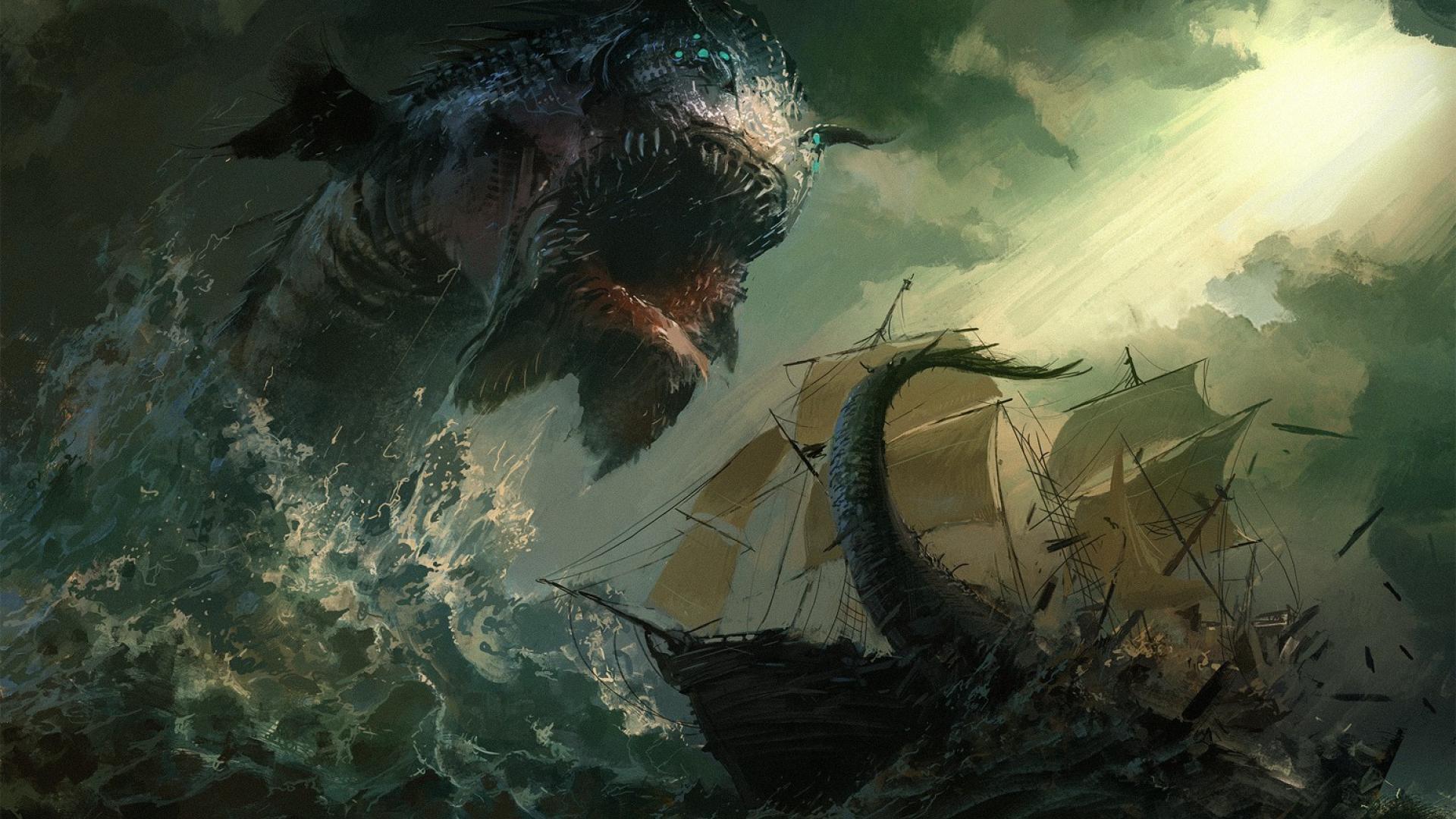 Hình nền kinh dị thủy quái