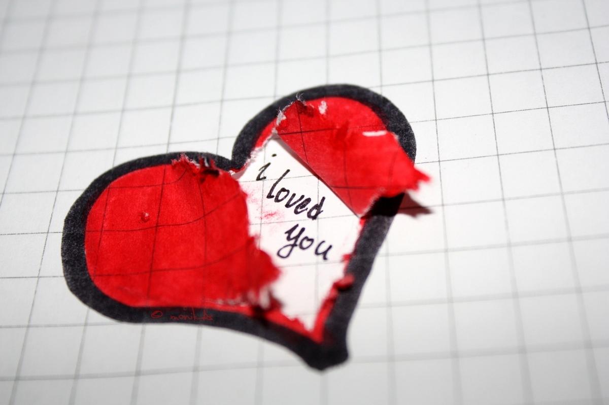 Hình trái tim tan vỡ sáng tạo