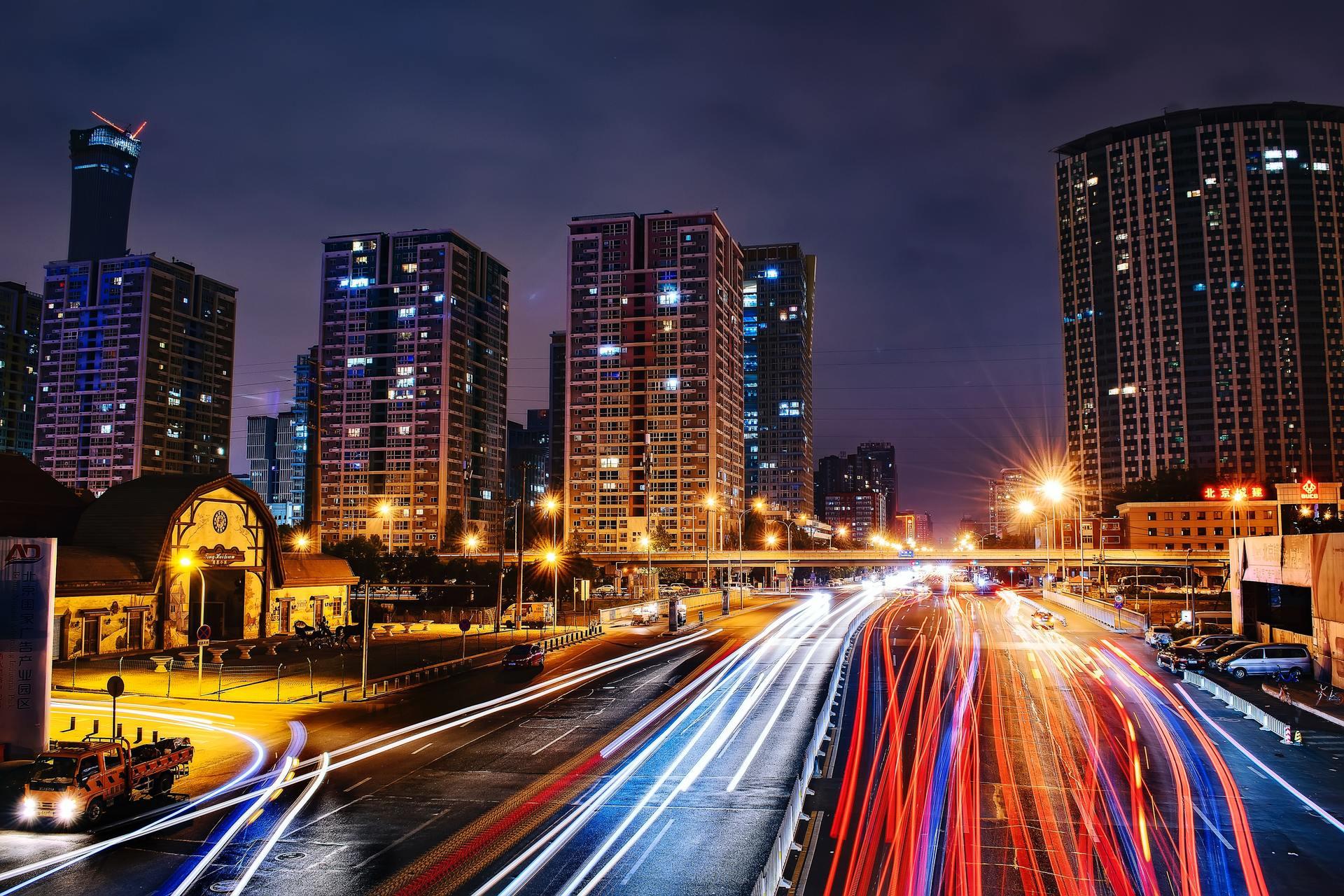 Thành phố đêm lung linh