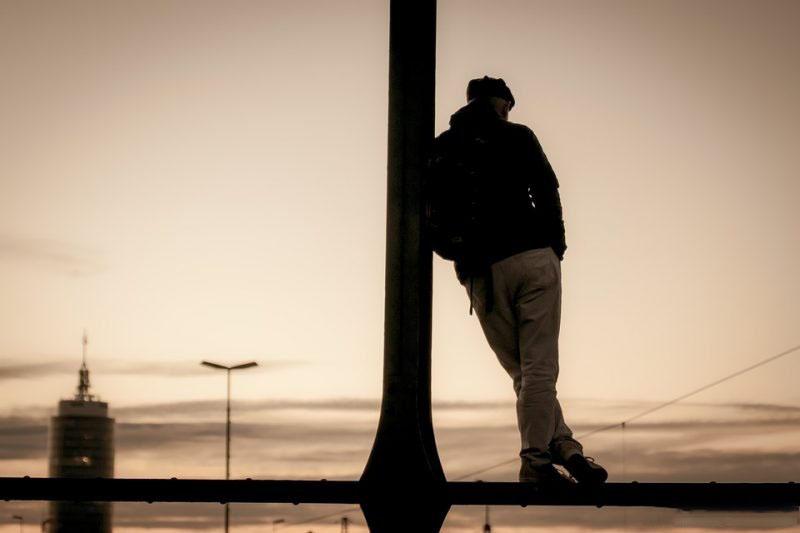 Ảnh buồn cô đơn sau khi chia tay