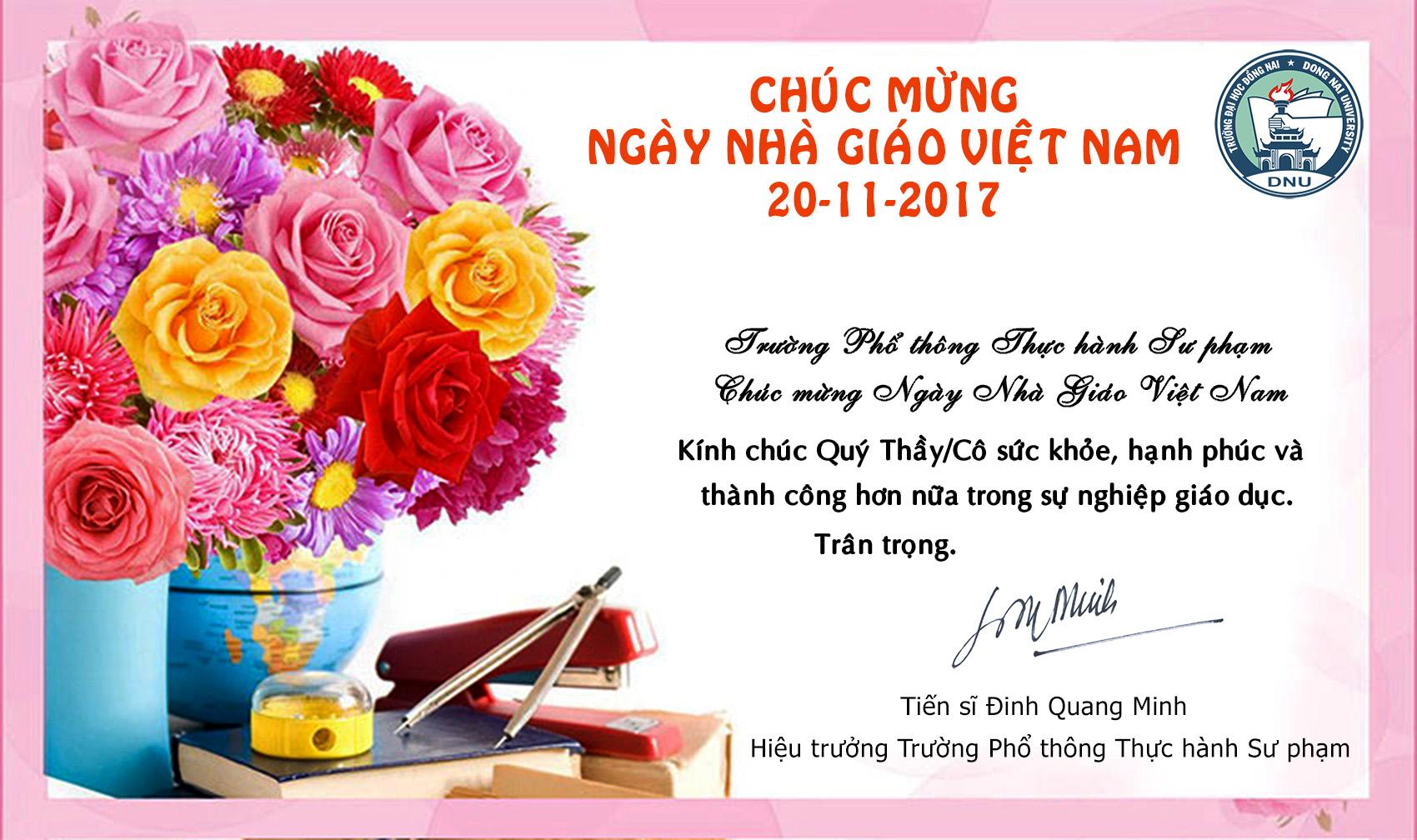 Ảnh mừng ngày nhà giáo Việt Nam hay nhất