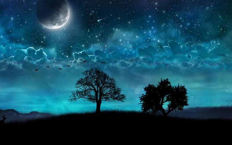 Hình ảnh bầu trời đêm 3D