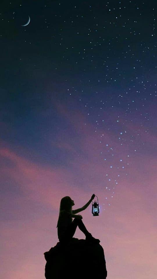 Hình ảnh bầu trời đêm buồn