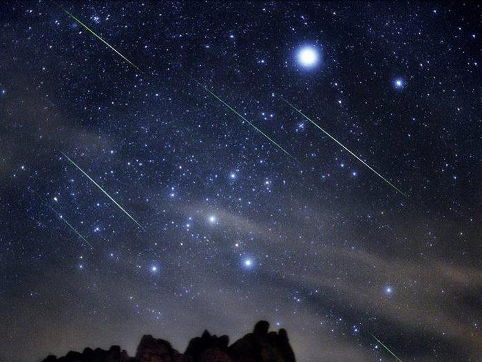 Hình ảnh bầu trời đêm sao băng