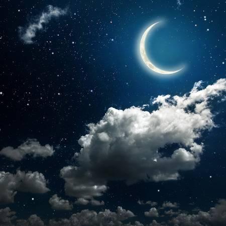Hình ảnh bầu trời trăng đêm