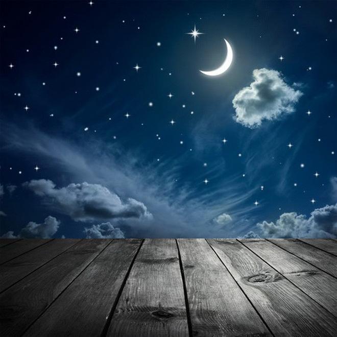 Hình ảnh bầu trời trăng sao đêm