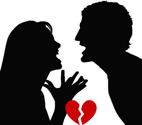 Hình ảnh cãi vã khi chia tay