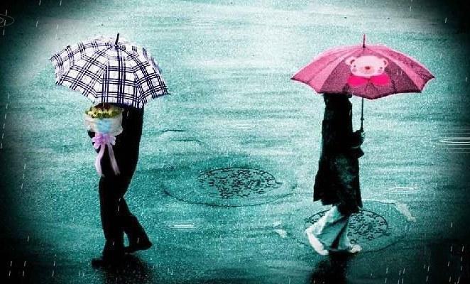 Hình ảnh chia tay dưới mưa