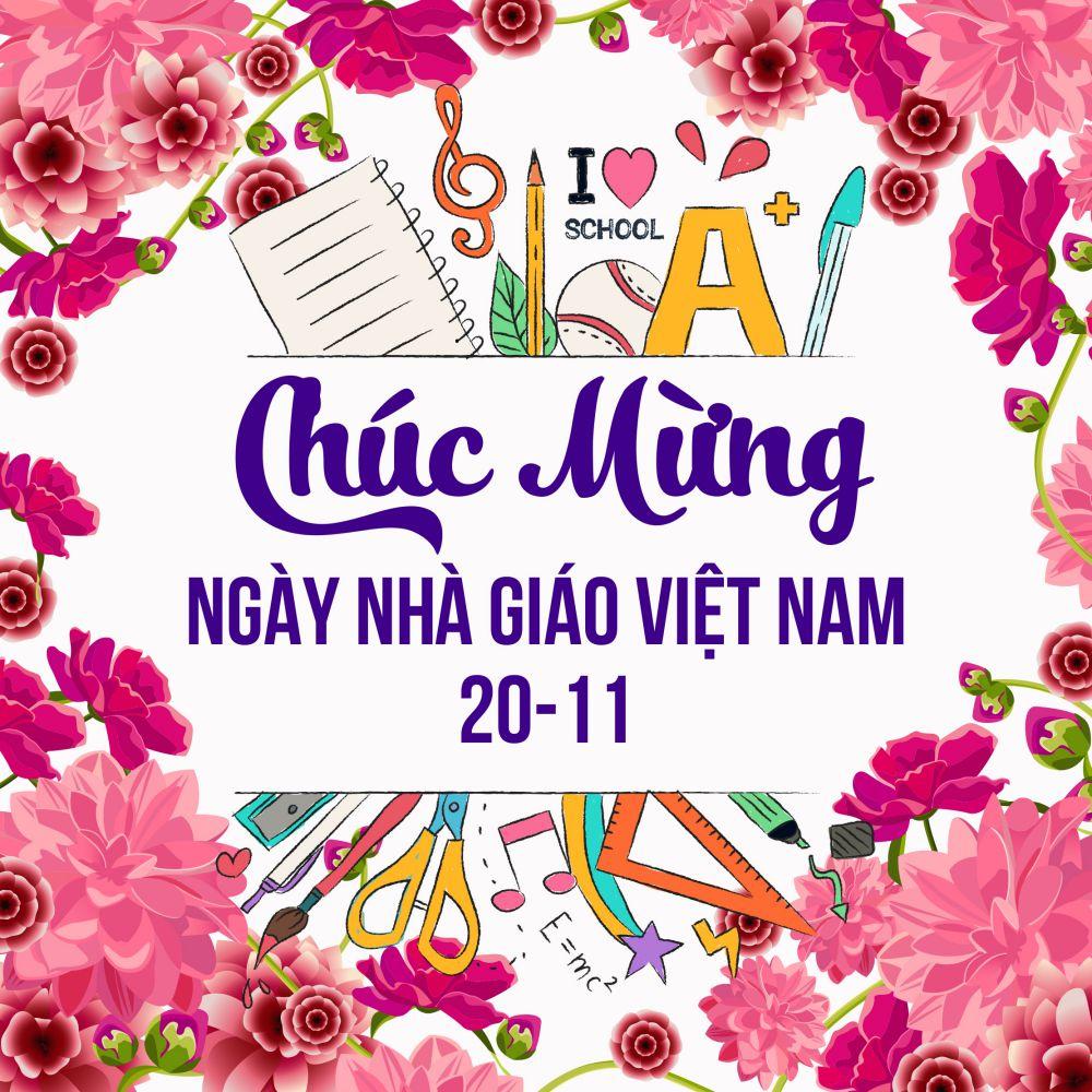 Hình ảnh chúc mừng ngày nhà giáo Việt Nam cực đẹp