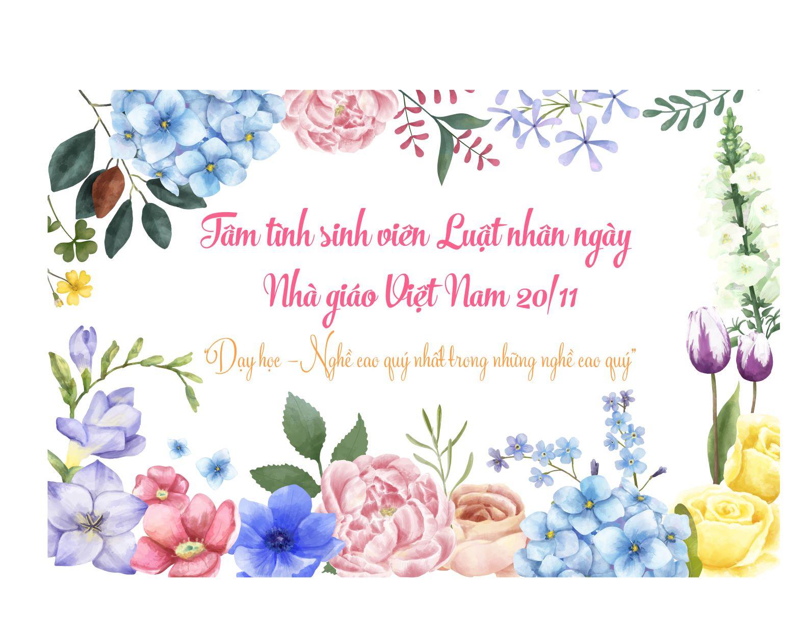 Hình ảnh chúc mừng ngày nhà giáo Việt Nam đẹp nhất