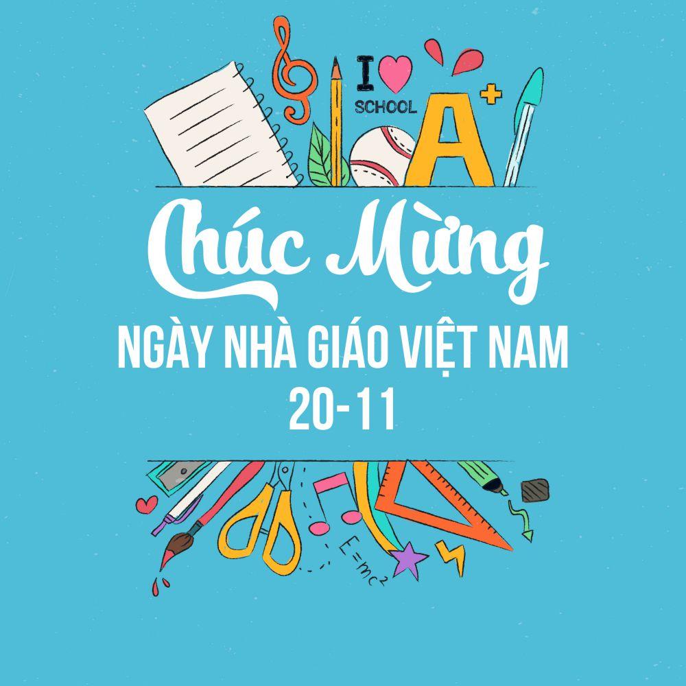 Hình ảnh chúc mừng ngày nhà giáo Việt Nam đẹp