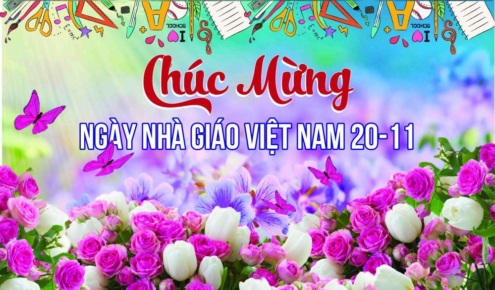 Hình ảnh chúc mừng ngày nhà giáo Việt Nam đơn giản