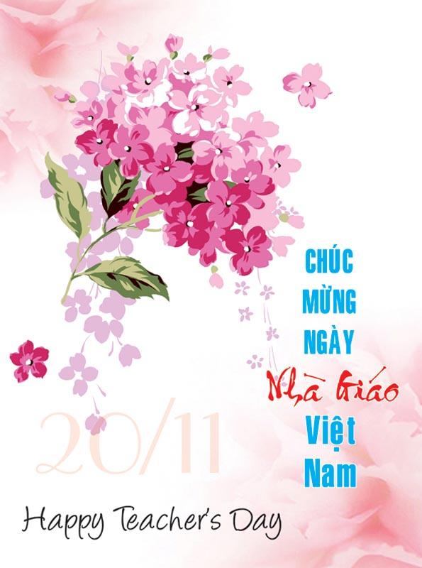 Hình ảnh chúc mừng ngày nhà giáo Việt Nam