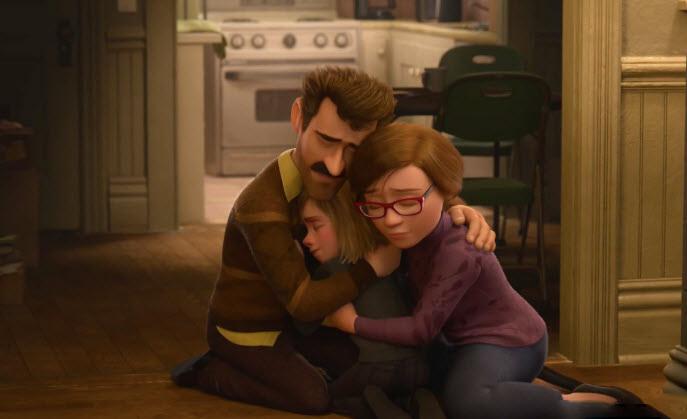 Hình ảnh hoạt hình gia đình buồn