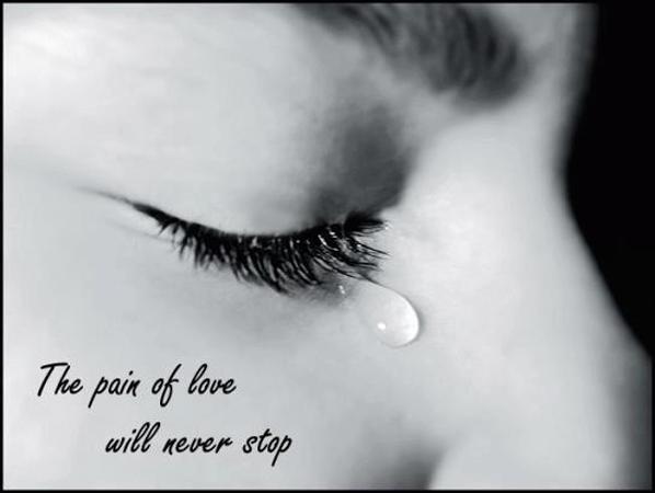 Hình ảnh nước mắt khi chia tay