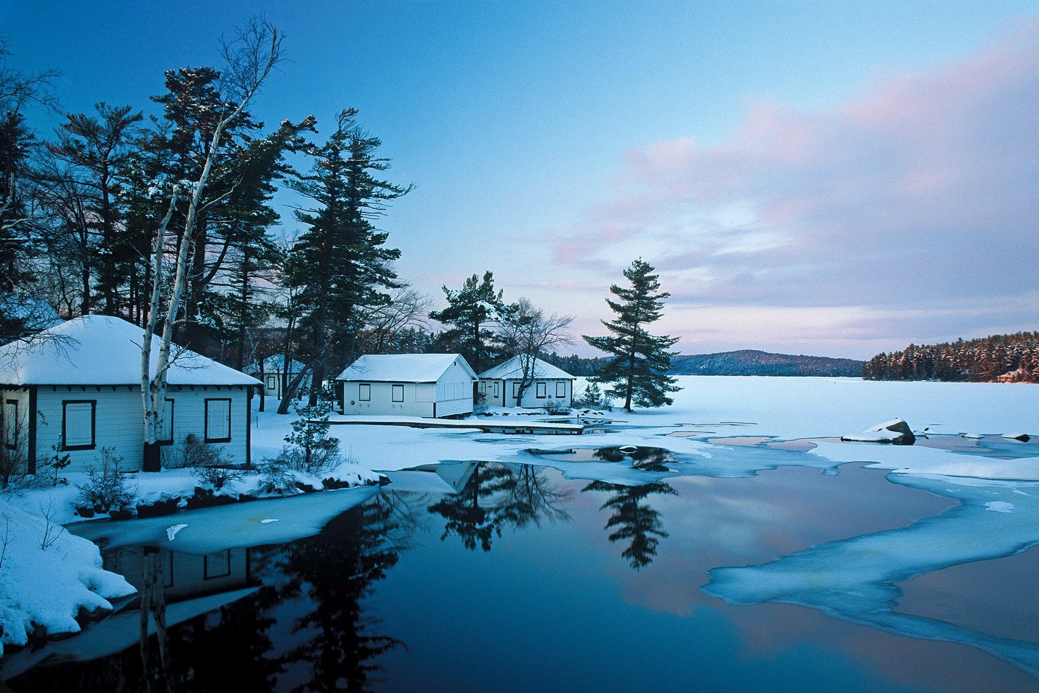 Mùa đông tuyết phủ cực kỳ đẹp