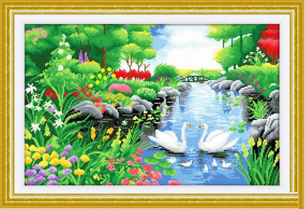 Tranh thêu phong cảnh thiên nhiên