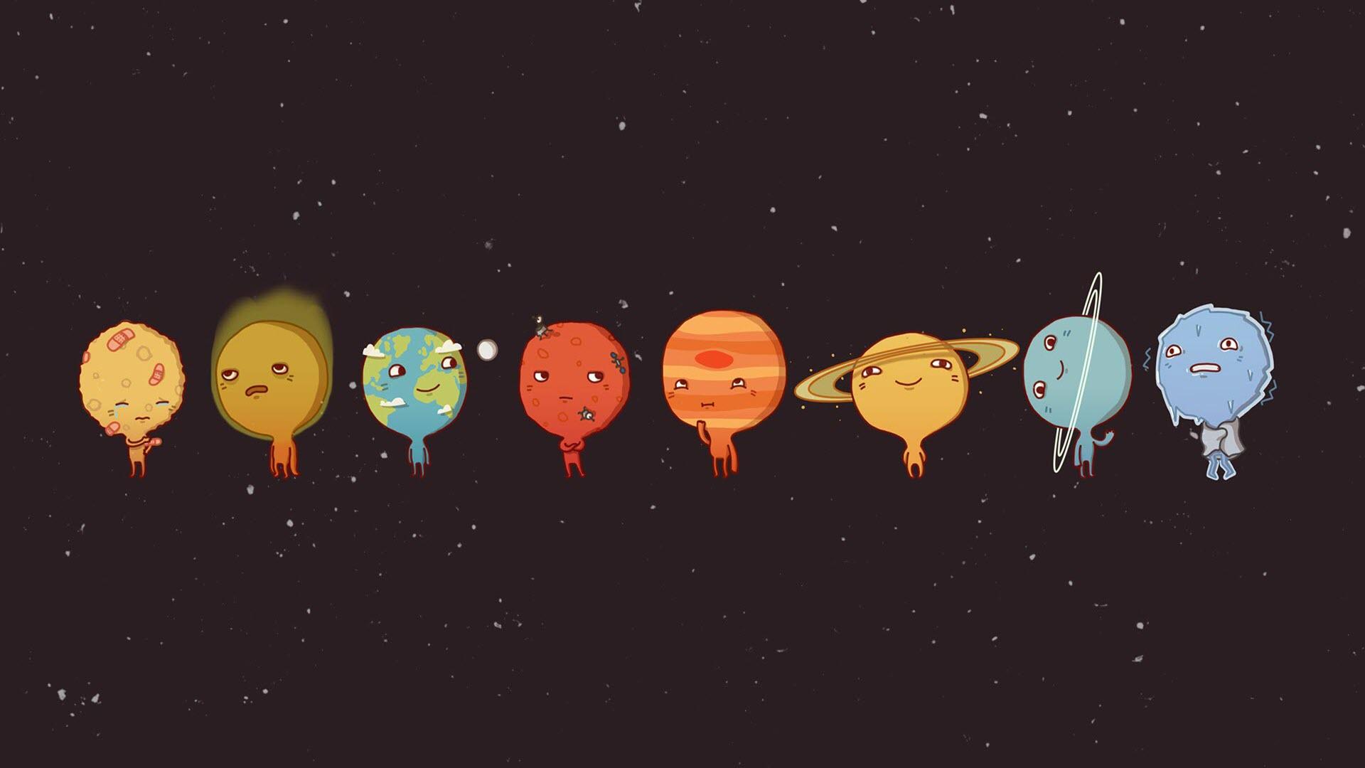Ảnh nền ngộ nghĩnh về vũ trụ