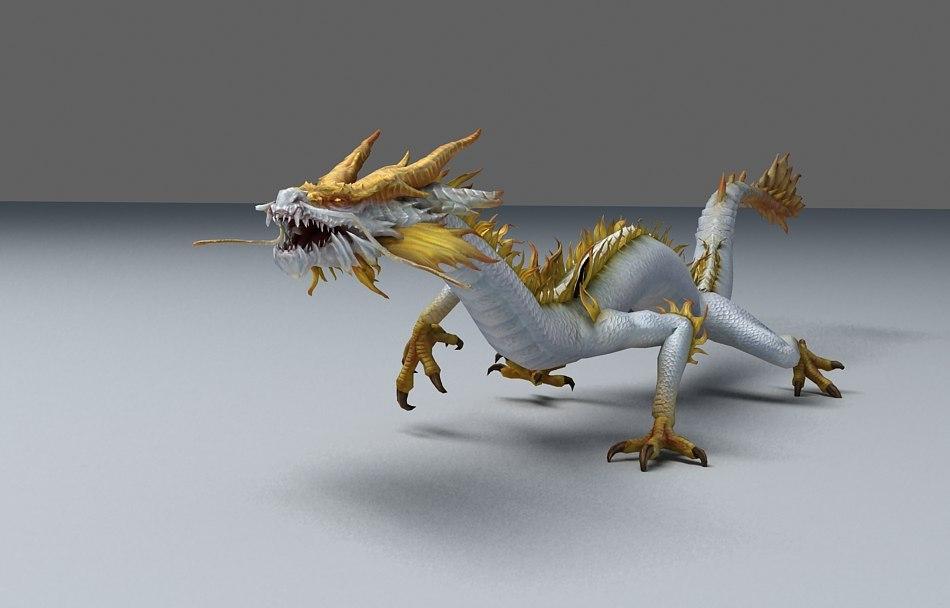 Ảnh rồng 3D đơn giản