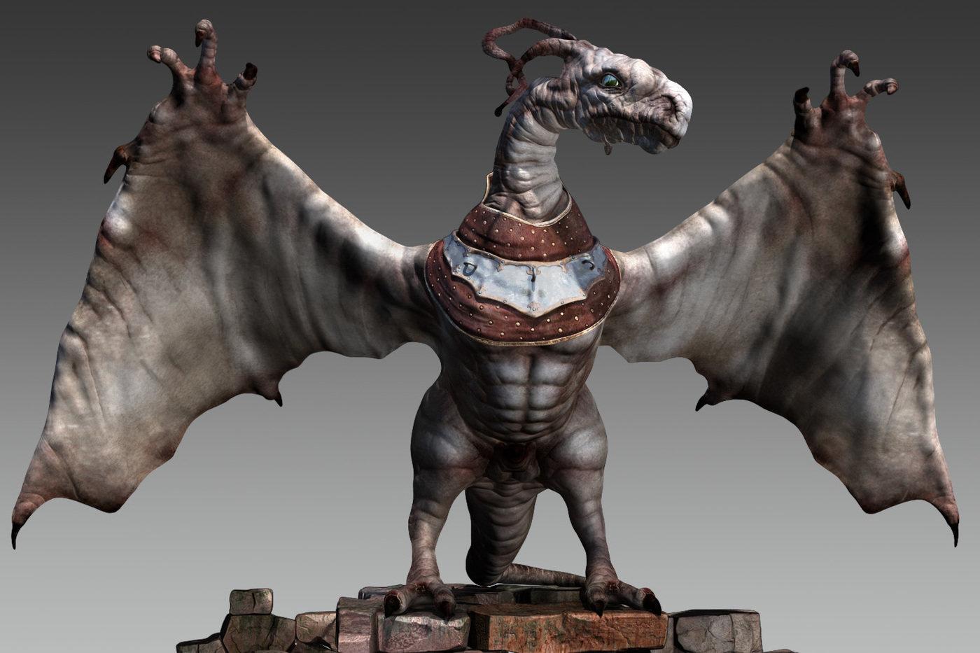 Ảnh rồng đáng sợ 3D